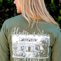 Southern Darlin' - Home Is Where The Heart Is Long sleeve