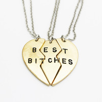 Best Bitches 3 Piece Necklace Set from P.S. I Love You More Boutique