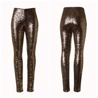💥TODAY ONLY💥🆕Bronze Sequin leggings