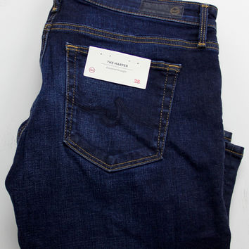 AG ADRIANO GOLDSCHMIED THE HARPER ESSENTIAL STRAIGHT LEG JEANS 28