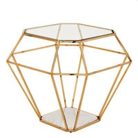 Eichholtz Side Table Asscher - Gold