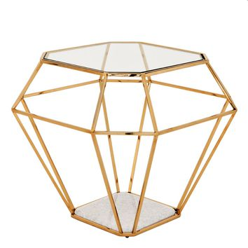 Eichholtz Asscher Side Table - Gold