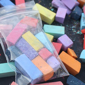 SALE - 1 DAY ONLY! Broken Pieces / Sample Pack of Hair Chalk, Temporary Color For Your Hair