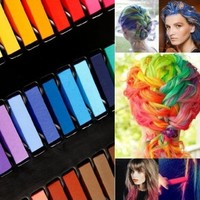 Hair Chalk Pastels - Wash Out Temporary Hair Colour Dye in 24 Colours by Cheeky®: Amazon.ca: Beauty