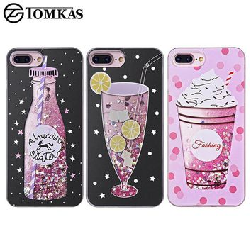 Quicksand Case For iPhone 7 7 Plus Soft Drink Soda Cocktail