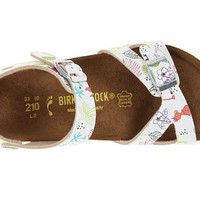 Birkenstock Kids Rio (Toddler/Little Kid/Big Kid) Funny Birds White Birko-Flor™ - Zappos.com Free Shipping BOTH Ways