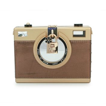 England Street Style Women Camera Shape Shoulder Bag Cool Rectangle Crossbody Handbag College Girl fashion bag (C392)