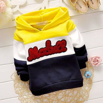 Baby Sweatshirts Outwear With Hooded coat S1923
