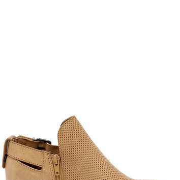 Great Trait Tan Ankle Booties