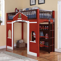 Fire House Youth Loft Bed