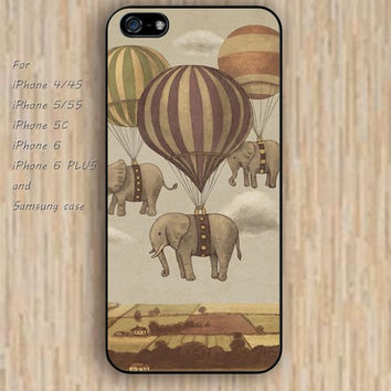 iPhone 5s 6 case Abstract flying elephant Dream colorful phone case iphone case,ipod case,samsung galaxy case available plastic rubber case waterproof B476