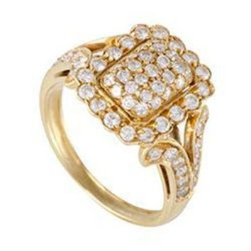 PEAP Cartier Vintage Yellow Gold Diamond Pave Ring