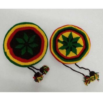 Hip Hop Jamaica Reggae Knitted Hat Rasta Friendship Bob Marley Style Beret Cap With Small Balls Black Yellow Red Green Colors