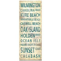 North Carolina South Shore Places Canvas Art