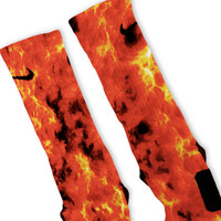 Flames Custom Nike Elite Socks