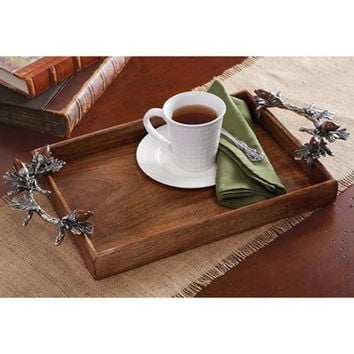 Acorn Handle Gallery Tray By Mud Pie