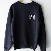 Babe Oversized Sweater