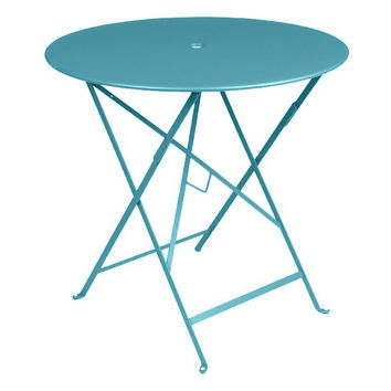 """Bistro 30"""" Round Table, Fjord Blue, Outdoor Bistro Tables"""