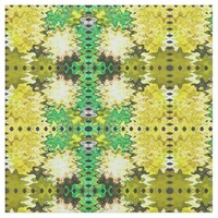 Bright Yellow Green Poof Pattern Fabric
