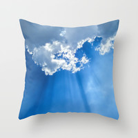 Silver lining cloud Throw Pillow by Laureenr