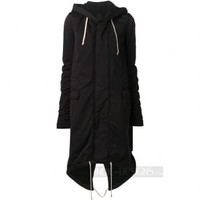 Indie Designs Rick owens Inspired Fishtail Parka Hooded Down Coat