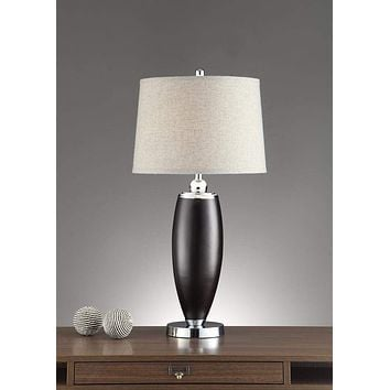 Wide Shade Table Lamp Black Set of 2 By Poundex