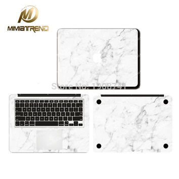 Calacatta Marble Grain Sticker Vinyl Film For Apple MacBook Air Pro Retina 11 12 13 15 Inch Decal Full Laptop Case Skins