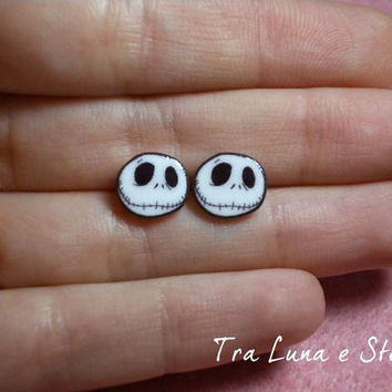 Earrings Jack Skeletron, Nightmare Before Christmas, Tim Burton - kawaii, cute