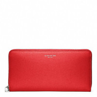 accordion zip wallet in saffiano leather