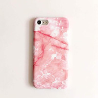 Fashion pink marble phone case for iPhone 7 7plus 6 6S 6plus 6Splus 1109J01