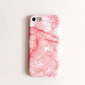 Fashion pink marble phone case for iPhone 7 7plus 6 6S 6plus 6Splus 1110J01