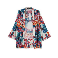 Multi Color Floral Print Cardigan