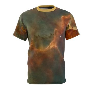 Space Cloud Print Unisex AOP T-shirt Perspiration Wicking