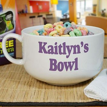 Personalized Ceramic Any Message Cereal Bowl