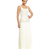 Sue Wong Beaded Gown - Ivory