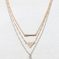 AEO Women's Stacked Spike Necklace (Mixed Metal)