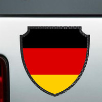 German Flag Badge Full Colour  Bumper Sticker Vinyl Decal Germany Europe Euro Country Macbook Apple Honda Acura Jeep BMW