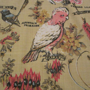 Birds and Flowers of Australia Tablecloth or Wall Hanging