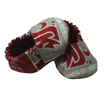 WSU Baby Shoes Booties - Size 0-3 Months