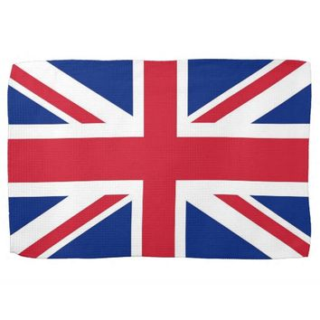 Kitchen towel with Flag of United Kingdom