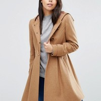 ASOS Swing Duffle Coat with Hood at asos.com