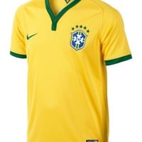 Nike Boys' Brasil Soccer World Cup Home Replica Jersey