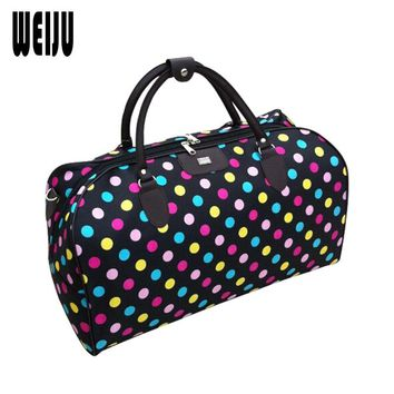 WEIJU Men Travel Bags Large Capacity Waterproof Fashion Duffle Bag Vintage Handbags Travel Bag Women Shoulder Bag