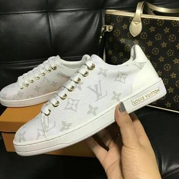 Louis Vuitton LV Women Fashion Leather Flats Shoes