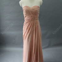 Blush bridesmaid dress - pink bridesmaid dress / long bridesmaid dress / long evening dress / pink evening gown / homecoming dress