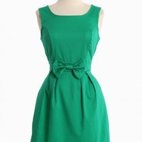 stella luna bow dress in green
