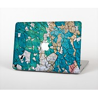 The Cracked Multicolored Paint Skin Set for the Apple MacBook Pro 15""