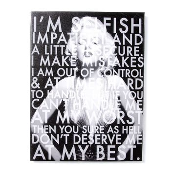Marilyn Monroe I'm Selfish Wall Canvas  | Icing