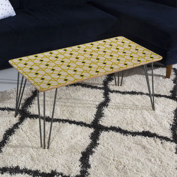 Heather Dutton Annika Diamond Citron Coffee Table