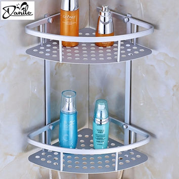 Hot Space Aluminum Bathroom Shelf Two Layer Wall Mounted Shower Shampoo Soap Cosmetic Bathroom Shelves Bathroom Accessories